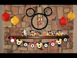 Easy DIY Mickey mouse birthday party decoration ideas