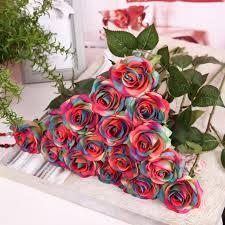 bouquet flowers us artificial silk flower bouquet home bridal wedding garden