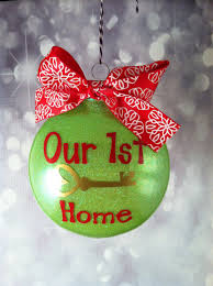 our first home ornament key 1st home gift glitter ornament