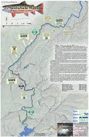 nantahala river map southeastern waterproof fishing maps carolina