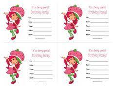 printable birthday invitations strawberry shortcake strawberry shortcake birthday invitation digital download