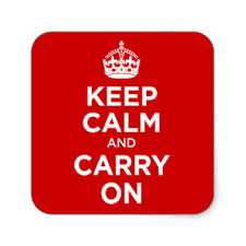 Keep Calm And Carry On Meme - keep calm and carry on meme stickers zazzle