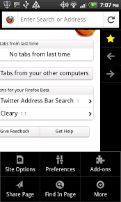 browsers for android mobile the new ui for the firefox for android mobile browser image from