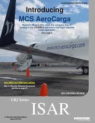 mcs aerocarga bombardier crj series in service activities report