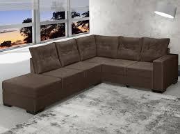 chaise e 60 sofá de canto chaise 2 e 3 lugares suede sevilha banqueta esquerda
