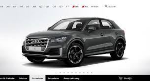 audi a3 configurator audi s configurator for the q2 is now up and running