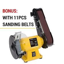 150mm bench grinder linisher sanding grinding wheel belt sander