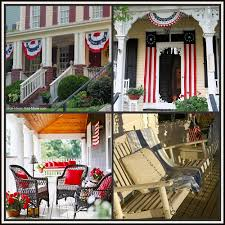 Red White And Blue Home Decor Red White And Blue Porch Decor Inspiration Networx