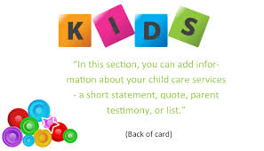 childcare business cards child care business cards template 7 child care owner