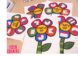 Halloween Crafts For The Classroom by Fractions In First Grade Fraction Flowers Make Perfect Classroom