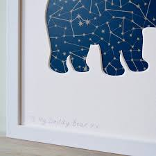 daddy and baby bear cut out picture by outshine art