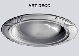 Art Deco Style Decorative Replacement Wambaugh Trim For Recessed