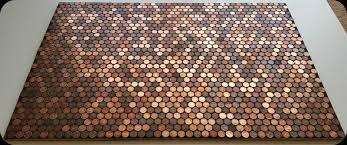 Bathroom Floor Pennies Black Grout On Real Penny Floor