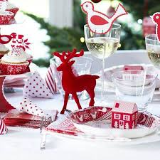 red reindeer christmas table decoration by little cupcake boxes