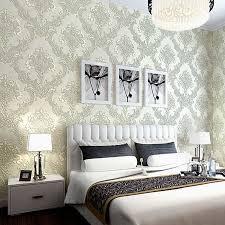 damask home decor vintage luxury damask textured embossed flocking roll wallpaper