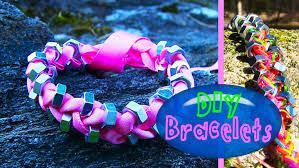 diy string u0026 ribbon bracelet with beads how to make bracelets for