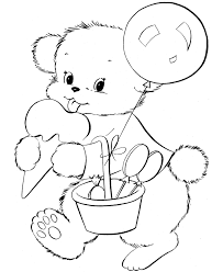 free coloring pages teddy bear coloring