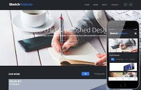 sketch website corporate flat responsive web template by w3layouts