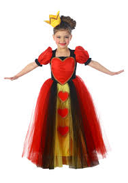child princess queen of hearts costume costumes halloween
