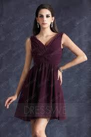 a linie v ausschnitt kurz mini chiffon brautjungfernkleid mit rusche p549 rüschen a linie kurz mini empire kleid v ausschnitt