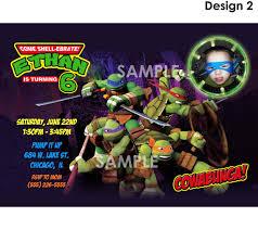 teenage mutant ninja turtles invitation printable tmnt