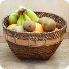 decorative fruit bowl fruit bowl burma from rattan and bamboo basket bread box deco