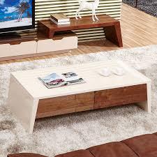 minimalist retractable storage veneered wood coffee table 2015