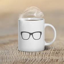 coffee mug glasses hipster custom mug design mugs for him