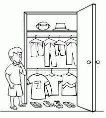 clothes closet coloring page for kids free printable picture