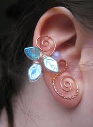 wire ear cuffs copper wire ear cuff with leaves faerie jewelry wire wrapped ear