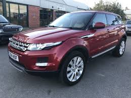 land rover used for sale used red land rover range rover evoque for sale gloucestershire