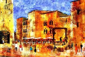 paint places textured towns colourful and creative paintings of places by mitzie