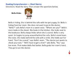 stories for comprehension reading comprehension 4