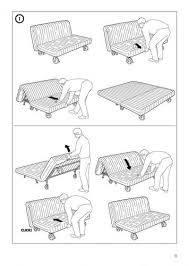 Ikea Futon Sofa Bed Instructions Futon Sofa Bed Frame Instructions - Sofa bed assembly