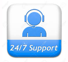 Customer Help Desk Support Desk Icon Or 24 7 Help Desk Button Technical Assitance
