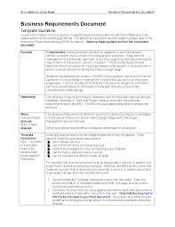 project management brd business requirment document templete