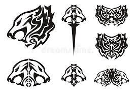 tribal symbols tattoos stock vector illustration of