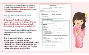 Japanese Embassy Letter Of Invitation infographic how to apply for a japanese visa lifestyle gma news