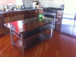 metal kitchen island tables stainless kitchen tables captainwalt steel island table work