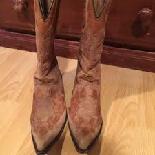 used womens boots size 9 58 pistolero shoes used cowboy boots size 9 from