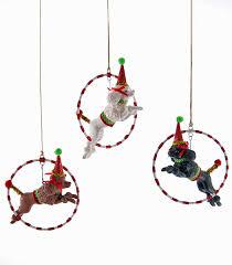 katherine u0027s collection poodle thru hoop ornament dog 4 5