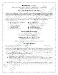 Examples Of The Resume Objectives by Special Education Teacher Resume Sample