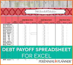 Excel Debt Payoff Template 12 Credit Card Debt Payoff Spreadsheet Excel Spreadsheets