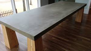 concrete top dining table gather around a cement table top in dallas tx youtube