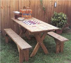 Plans For Building Picnic Table Bench by Incredible Picnic Table Without Benches 13 Free Picnic Table Plans