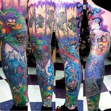 download 80s cartoon tattoo sleeve danielhuscroft com