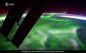 northern lights canada 2017 stunning time lapse of northern lights as seen from space