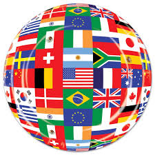 Flags Countries Amazon Com International Flag Plates 8 Pkg Kitchen U0026 Dining