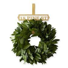 brass finish wreath hanger and graham