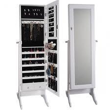 White Jewelry Armoire Mirror Standing Mirror Jewelry Armoire White Jewelry Design Studio